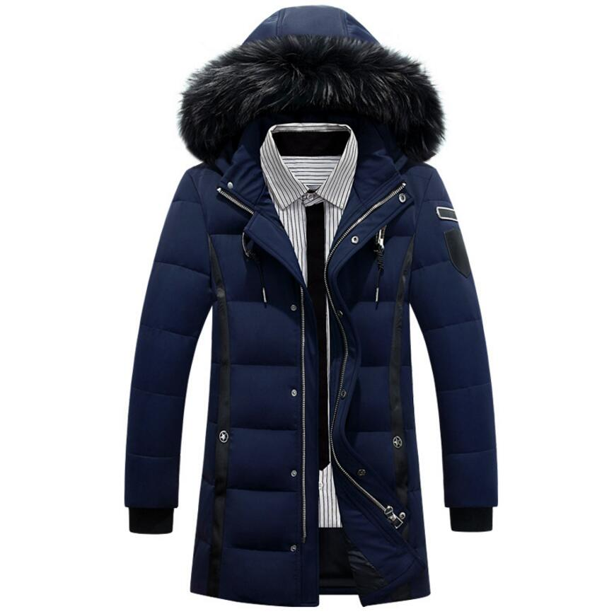 Men's Fashion Long Thick Warm Winter Jacket Men Parka 2017 New Hooded Jackets And Coats For Men Brand Clothing High Quality new big size 8xl clothing winter jacket men casual parka jacket thick men hooded warm men s coats and jackets fashion overcoats
