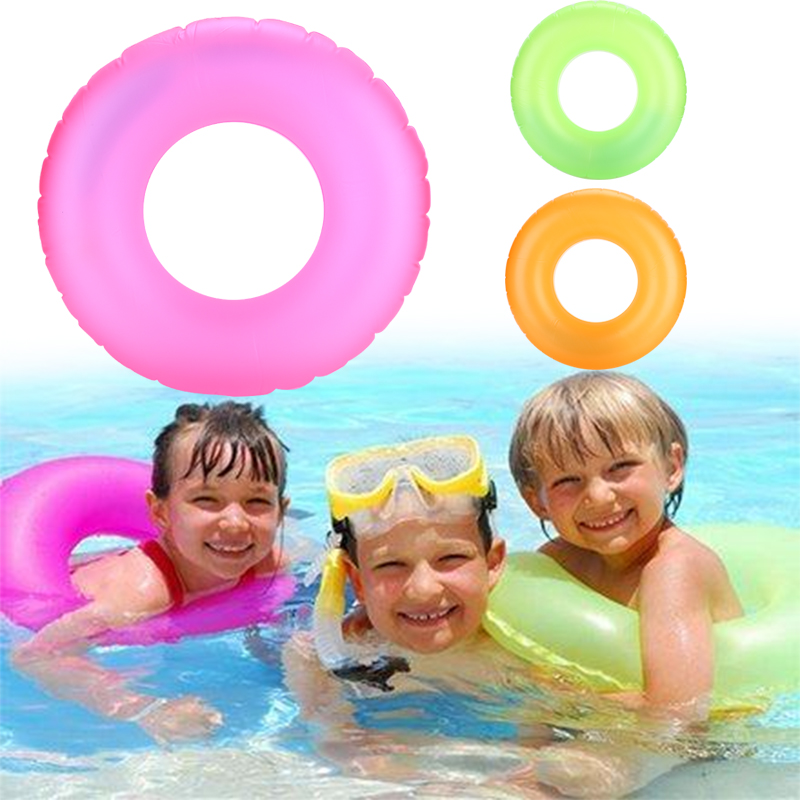Inflatable kids Swimming Circle Noctilucence Baby Swimming Pool Swimming Ring Cute PVC Water Creative Lovely