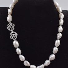 Пресноводный жемчуг Белый барокко 10-11 мм ожерелье 18 дюймов бусы природа