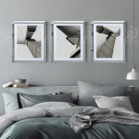 Wall mirrored frames modern combination photo frame wall mural wall decorative glass mirror frame picture frame