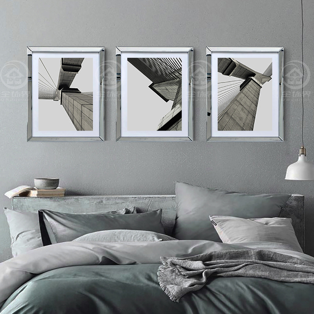 Aliexpress Buy Wall Mirrored Frames Modern Combination Photo Frame Wall Mural Wall Decorative Glass Mirror Frame Picture Frame From Reliable
