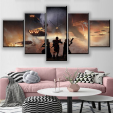 Canvas Home Wall Art Decor Framework HD Print Poster 5 Pieces Game Play Destiny 2 Painting For Living Room Modular Picture