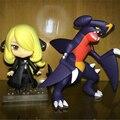 Pokemon Go Cynthis Garchomp Shirona Figuras 2Pcs Set 10Cm Japan Anime Pocket Monster Pvc Q Ver Nendoroid Figures Kids Hot Toys