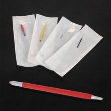 Tebori Fog Eyebrow Manual Pen Permanent Makeup 3D Eyebrows Embroidery Mini Tattoo Machine With 4 Style Round Needles