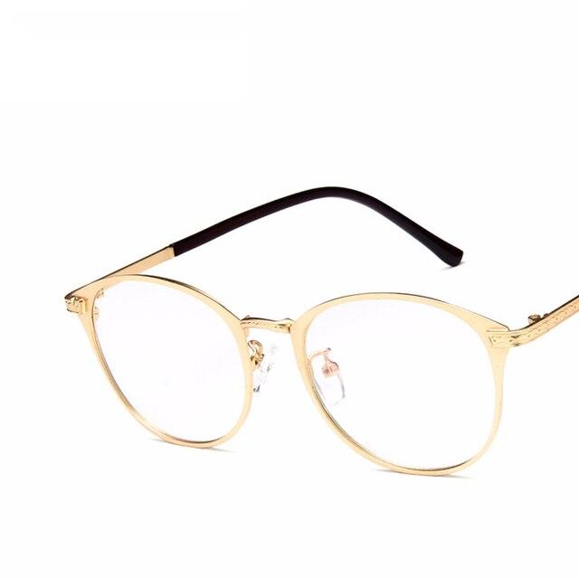 2018 nuevo metal retro espejo plano versión coreana gafas miopía marco arte estudiante  gafas Eyewear del d6f9cfe40b19