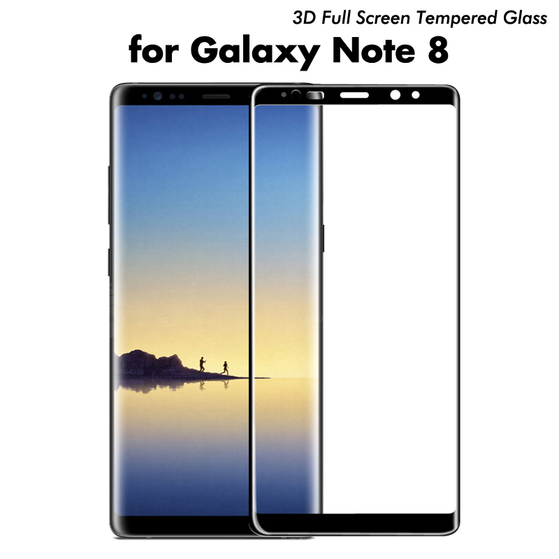 200x note8 Full Cover 3D Curved Edge Tempered Glass Screen Protector For Samsung Galaxy note 8 full glass Film