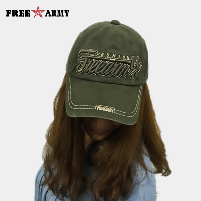 Fashion Caps Embroideried Unisex Baseball Caps Cotton Adult Hip Hop Snapback Caps Sun Hats Free Army Brand G11391A