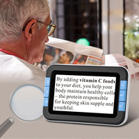 4x 16x Portable Digital Magnifier with 4.3 Color LCD Electronic Reading Digital Video Magnifier for Low Vision Aids