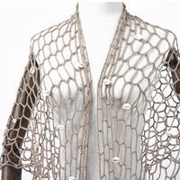 Asymmetric Open Stitch Cardigan Summer Beach Mesh Hippie People Style Crochet Knit Embroidery Blouse sleeveless Vest 3