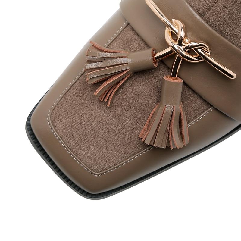 Size34 Gruesos Zapatos Mujer cal Tacones Botas 40 De Mujeres Tobillo Cr1325 Punta Moda Causal Con Enmayer Black Borla Med Cremallera yxOtBc66