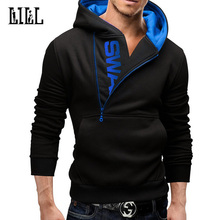 5XL Men's Zipper Sweatshirt Long Sleeve Hoodie Men Fleece Hooded Coat Male Letter Hoody Man Warm Style Hoodies Pullover,UMA397
