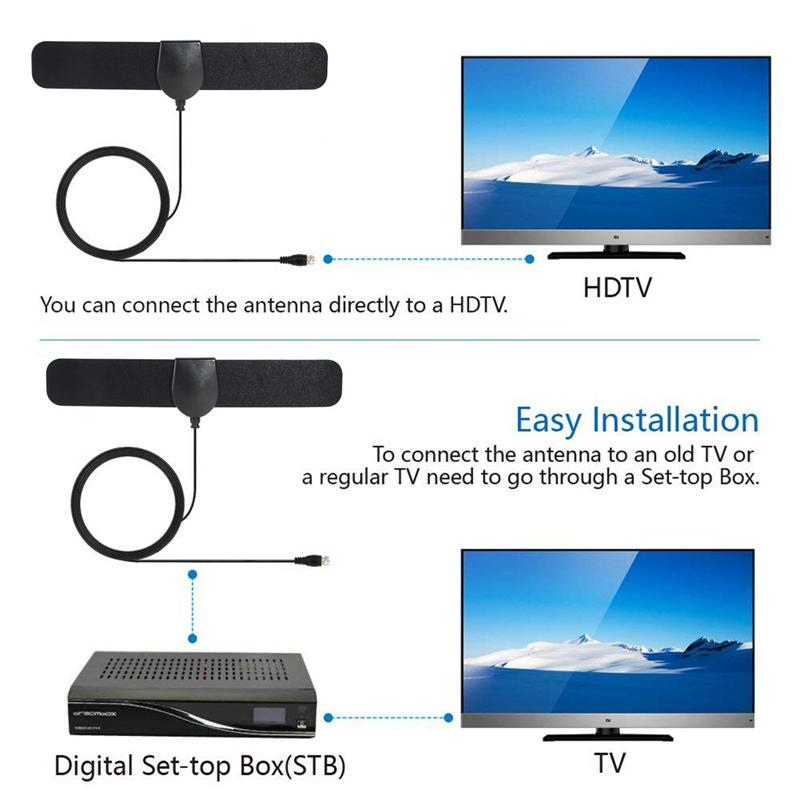 1080P HD Indoor Universal TV Antenna DVB T2 ATSC 25 Miles Digital Amplifier Aerial in TV Antenna from Consumer Electronics