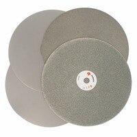 4PCS 8 Inch 200mm Grit 120 240 600 1000 Electroplated Diamond Flat Lap Disk Wheel Rough