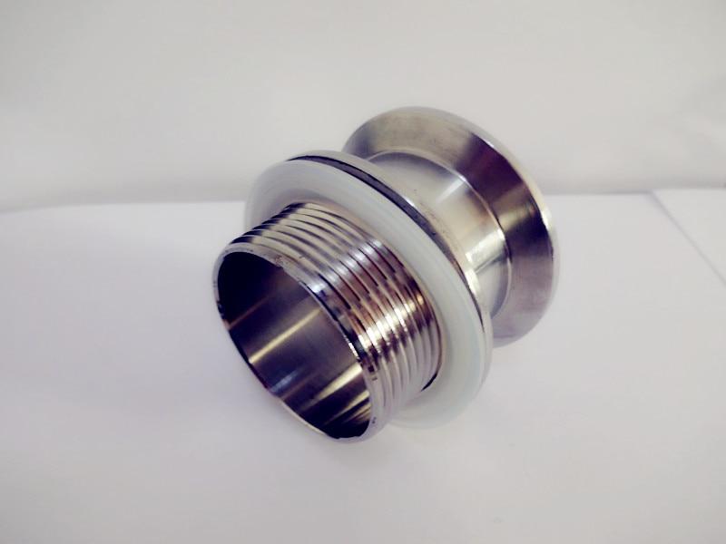 1 1/2 (DN40) adaptateur de filetage externe 48mm * trois pinces 2 (51mm) OD64 avec joint en Silicone acier inoxydable 304,