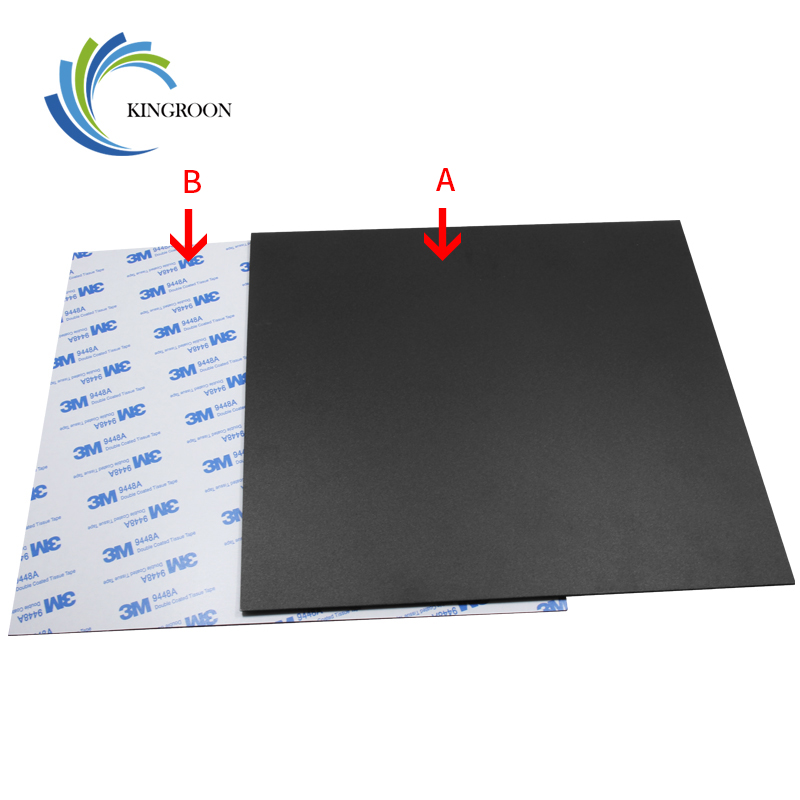 New Magnetic Print Bed Tape Heat Paper For 3D Printer Print Sticker 220/214/300mm Square Build Plate Tape Surface Flex Plate