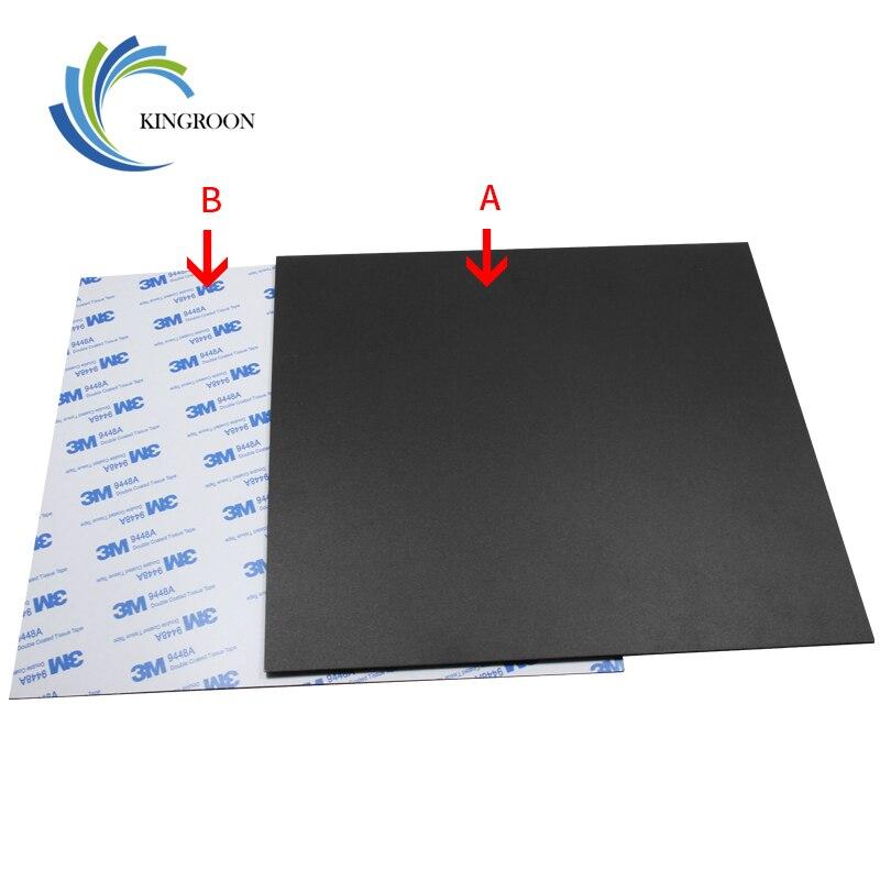 Nouveau Magnétique Impression Lit Bande Chaleur Papier Pour 3D Imprimante Impression Autocollant 220/214/300mm Carré Construire plaque Bande Surface Flex Plaque