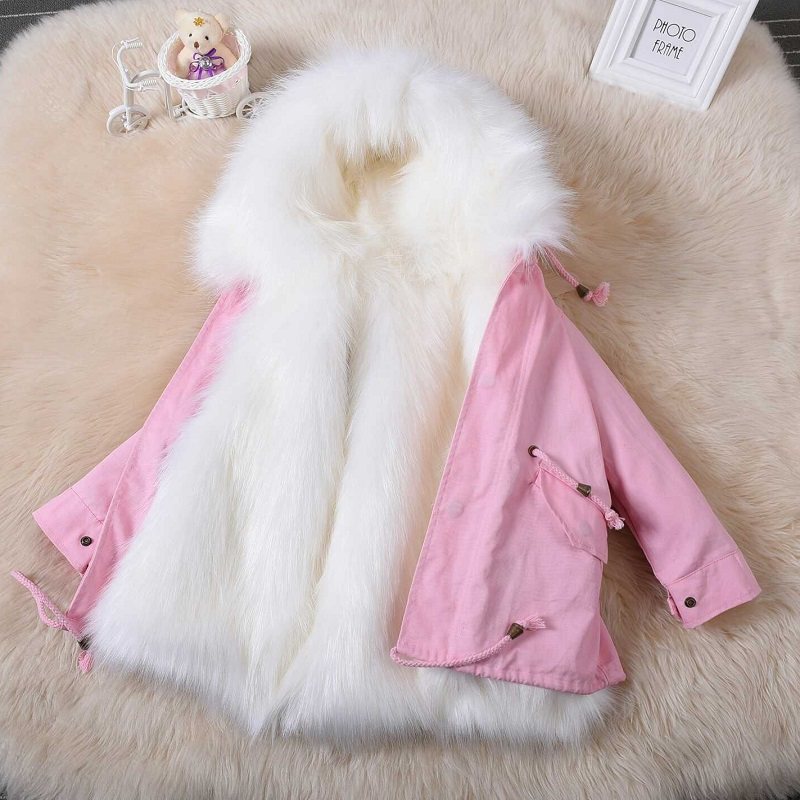 New Fashion Boy&Girl Autumn &Winter Clothes Male Virgins Imitation Fur Clothes long Faux Fox Fur Coat