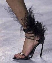 Hot Selling Black Leather Decor Ladies Sandals Cut-out Peep Toe Ankle Cross Strap Black Patent Leather Heels Gladiator Sandals цена в Москве и Питере