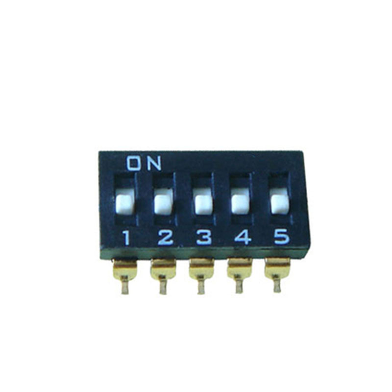 Five tiles black dial the code switch Toggle switch 5 p 2.54 MM spacing SMD bonatech diy mp3 toggle switch mk12c02 micro switch silver black 100pcs