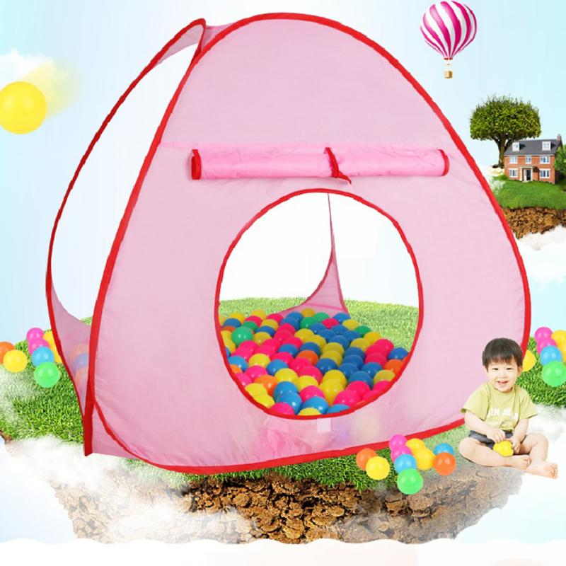 1pcs Kids Tent Pink Blue Foldable Children Kids Play Tents Outdoor Baby Toy Tent Girl Outdoor House Kids Tent Baby Birthday Gift mushroom kids play hut pink blue children toy tent baby adventure game room indoor outdoor playhouse