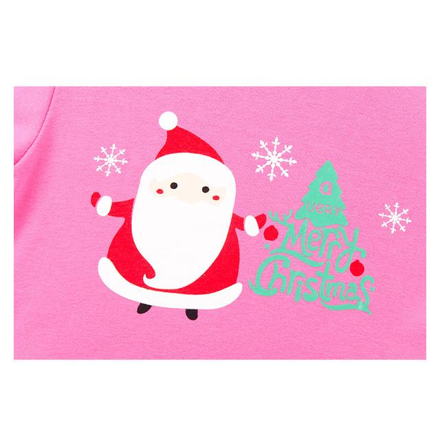 Little Bitty baby pajamas kids merry christmas pyjamas boys girls pink santa pijamas children long sleeve 100% cotton pyjamas