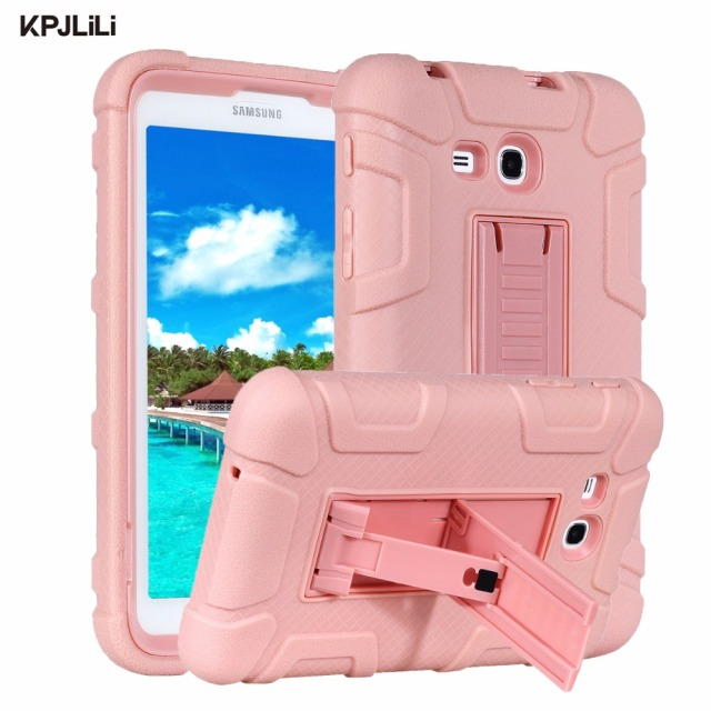 buy online 5ff52 484b1 US $14.27 |Shockproof Case for Samsung Galaxy Tab 3 Lite/Tab E Lite 7.0  T110 T111 T113 T116 Kids Kickstand Armor Silicone Hard Case Cover-in  Tablets & ...
