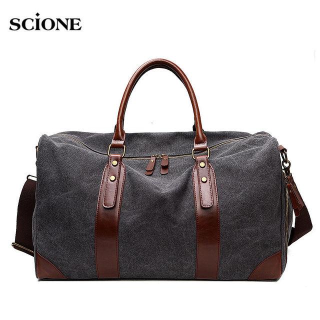 a73085a4e2 Women Men Gym Bag Luggage Travel Handbag Canvas Shoulder Bags Leather  Ladies Hanhbags Crossbody Briefcase Outdoor