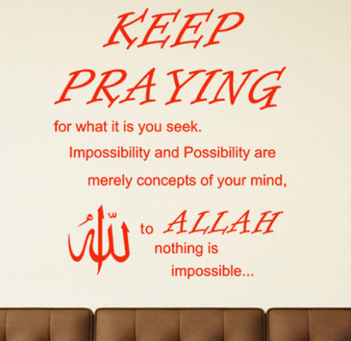 Aliexpresscom Buy New Home WALL STICKERS KEEP PRAYING WALL - New home quotes