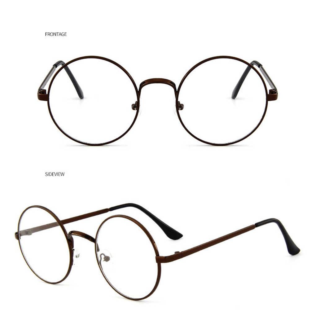 dab612aa45 Fashion Korean Vintage Eyeglasses Round Metal Frame Spectacles Clear Lens  Eye Glasses Accessory Unisex