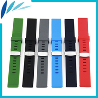 Silicone Rubber Watch Band 18mm 20mm 22mm For MK Hidden Clasp Strap Quick Release Wrist Loop