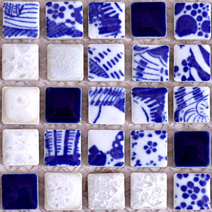 Aliexpress.com : buy new design blue & white porcelain mosaic ...