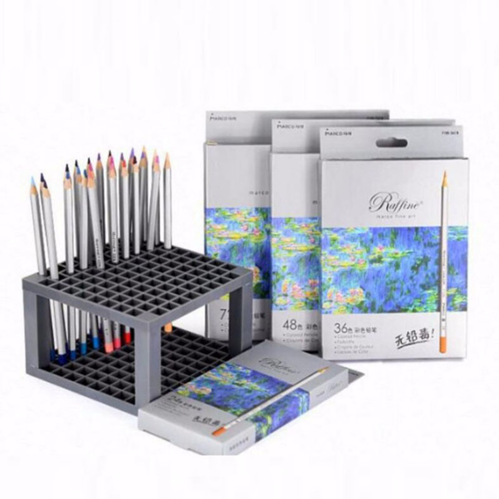 Free shipping 7100 color pencil professional painting/oily/tin box / 24 48 72 colors lapices de colores faber castell /M16017