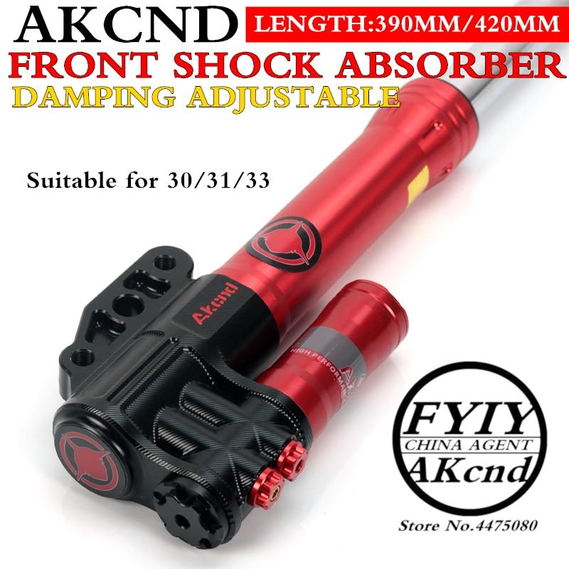 AKCND Motorcycle front shock absorber nmax BWS SMAX AEROX 155 vjr125 niu N1S M1M+40mm100mm brake calipers