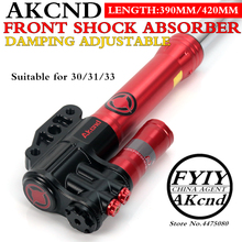 AKCND Motorcycle front shock absorber nmax BWS SMAX AEROX 155 vjr125 niu N1S M1M+40mm100mm brake calipers цена