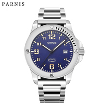 2017 New Arrival Parnis Mens Top Luxury Brand Mechanical Watch Pvd Case 21 Jewels Movement Luminous Military Watch Men