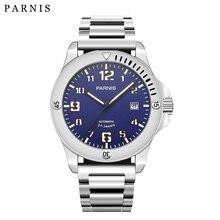 2017 ใหม่มาถึง Parnis Mens Top แบรนด์หรูนาฬิกา Pvd กรณี 21 Jewels Movement Luminous ทหารนาฬิกาผู้ชาย