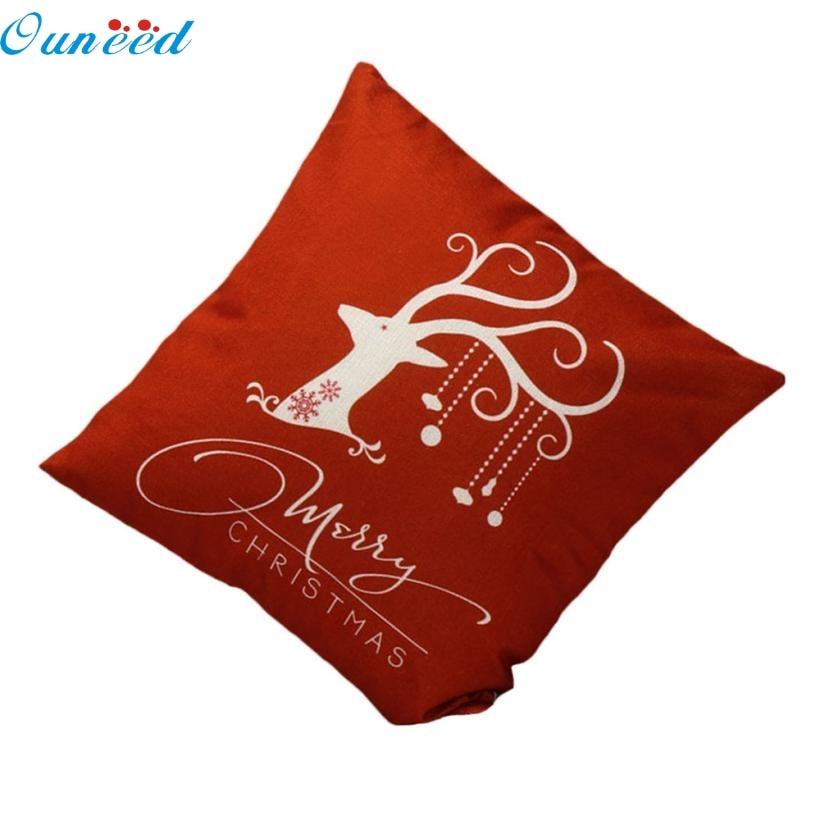 Homey Design Decorative Pillowcase Christmas Deer pillow Cover Bed Festival Pillow Case 45*45cm 2017 o11