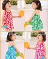 New Hot girls dress fit 2-7 yrs children beach sling dress  6 pieces / lot same color all size