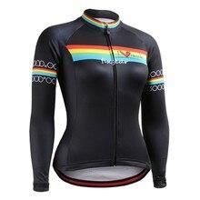 цена на Breathable Cycling Jersey 2016 Women's Long Sleeve Cycling Clothing Spring Autumn Winter Bike Bicicleta Ciclismo Jersey