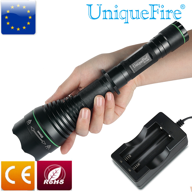UniqueFire 1508 Special Hunting Infrared Flashlight T67 Light IR850nm Brass Pill LED Flashlight+Charger For Rifle Hunting 2017 nitecore five colours primary infrared light ci6 hunting kit gear hunting law enforcement militar flashlight lantern boxset
