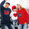 LOVE Family Matching Casual Tops Family Clothing Mother Daughter Father Son Clothes Parent-Child Clothing Family Set TM19
