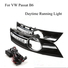 For VW Passat B6 2006 2007 2008 2009 2010 2011 A Pair of LED Car Lights DRL Daytime Running Lights Brand New Wholesale Price