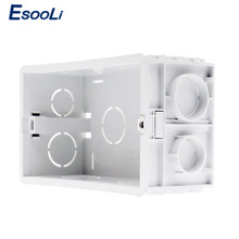 Esooli Wall Mounting Box Internal Cassette White Back Box 137*83*56mm For 146mm*86mm Standard Touch Switch and USB Socket