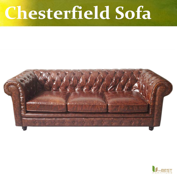 U BEST BROWN LEATHER VINTAGE CHESTERFIELD SOFA ANTIQUE 60s 70s RETRO ERA LEATHER 3 SEATER SOFA