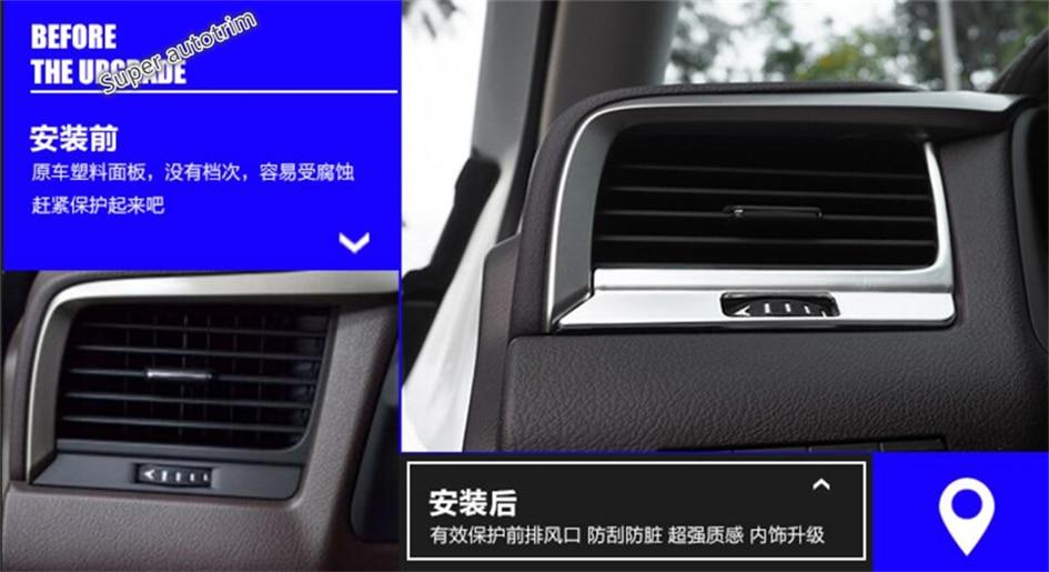 Lapetus Dashboard Acondicionador de aire AC Vent Outlet Cover Trim 7 - Accesorios de interior de coche - foto 1
