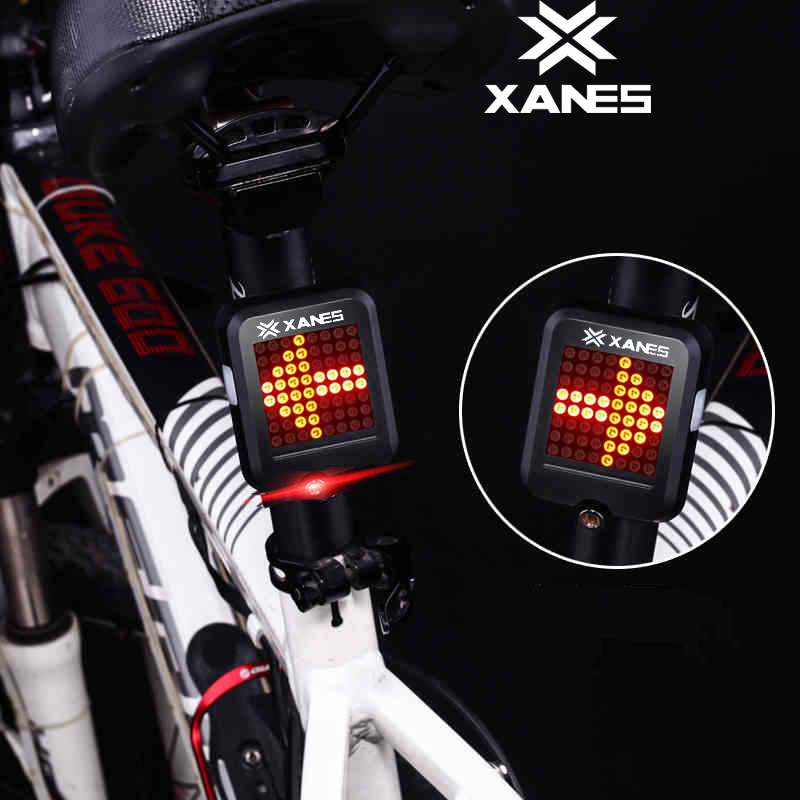 New OUTERDO XANES STL-01 Waterproof 64 LED 80LM Intelligent Automatic Induction Steering Brake Safety Night Bicycle Taillight outerdo 100