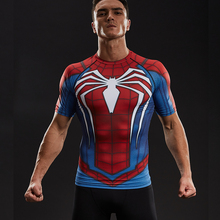 Raglan Sleeve Compression Shirts Spiderman 3D Printed T shirts Men 2017 NEW Crossfit Tops For Male