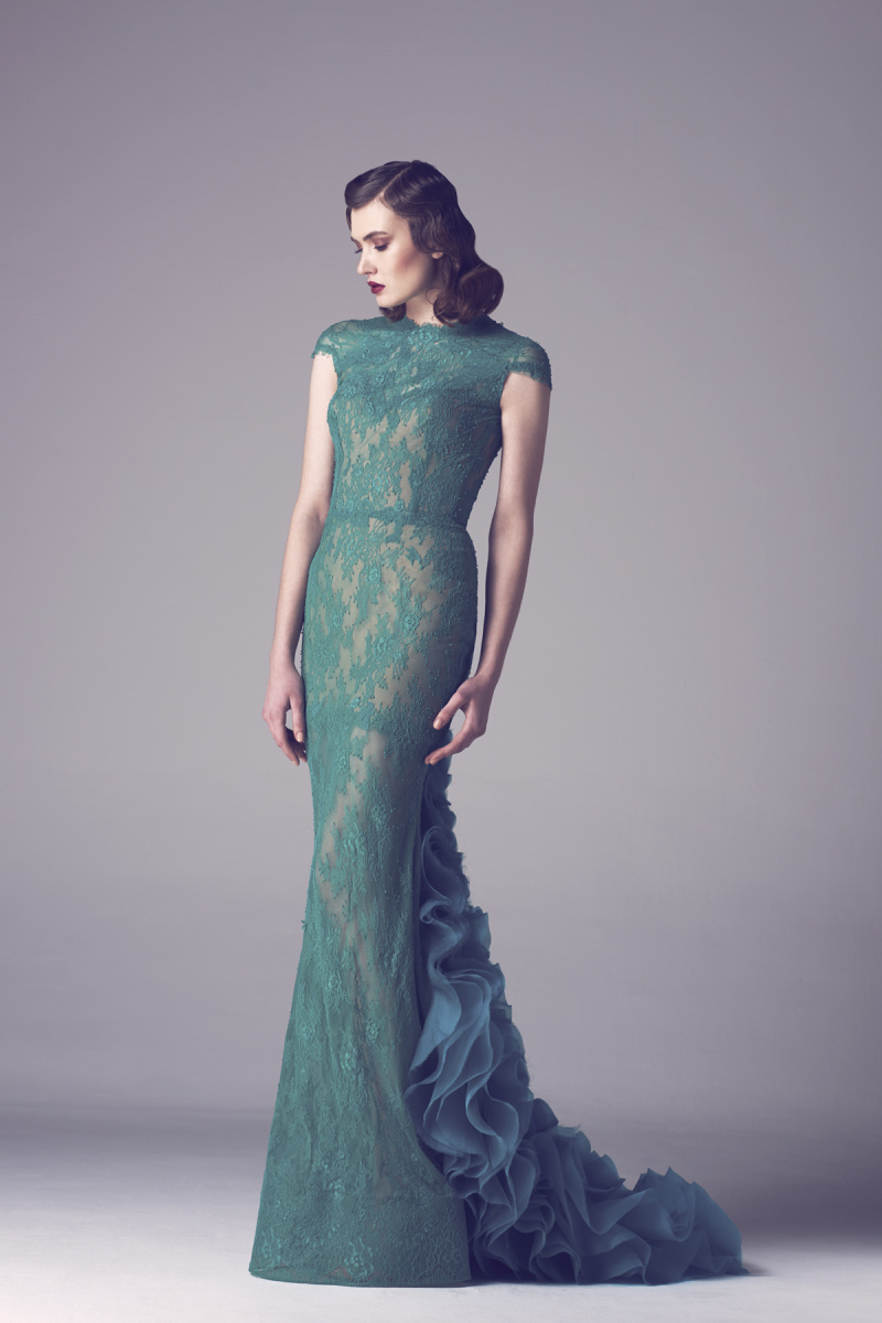Green Mermaid Style Wedding Dress | Dress images