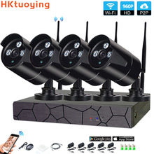 4CH 1080P HD Wireless NVR Kit P2P 960P Indoor Outdoor IR Night Vision Security1.3MP IP Camera WIFI CCTV System цена и фото