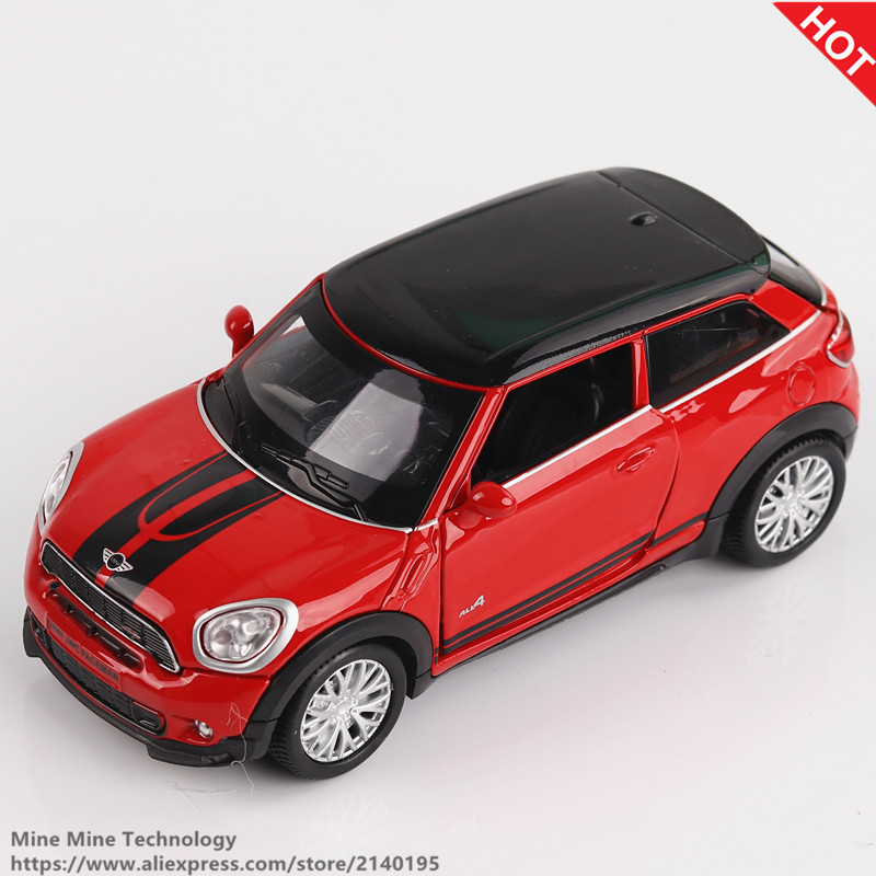 Double Horses 1 32 Scale Diecast Alloy Metal Car Model MINI Coopers Countryman Collection Model Pull
